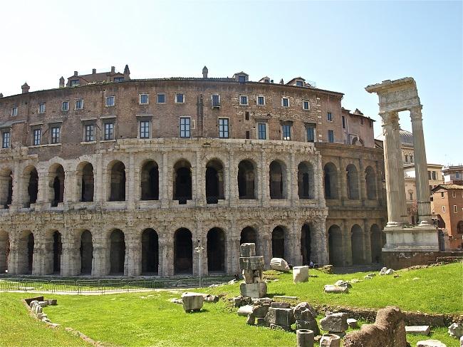 Teatro di Marcello - Parcours du marathon de Rome