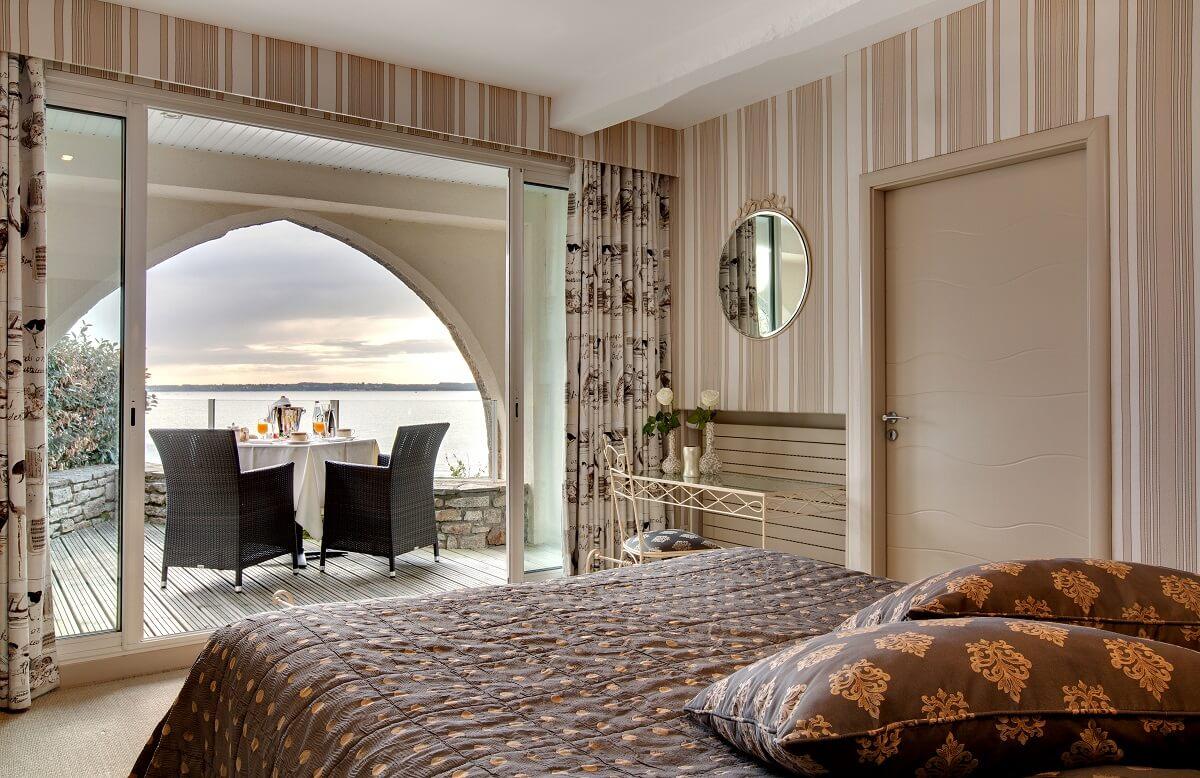 Chambre - Hôtel Le Domaine de Rochevilaine - Billiers