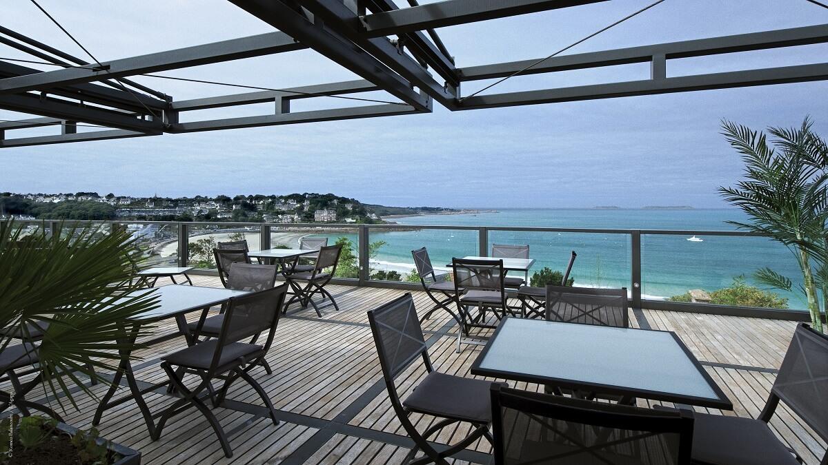 Terrasse - Hôtel l'Agapa - Perros-Guirrec