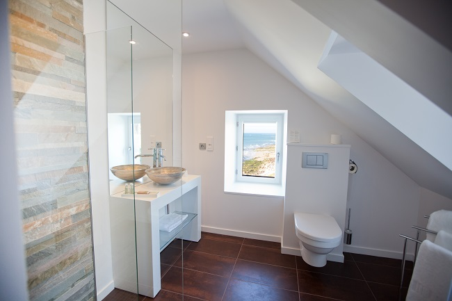 Salle de bain - Hôtel Le Landemer - Urville-Nacqueville
