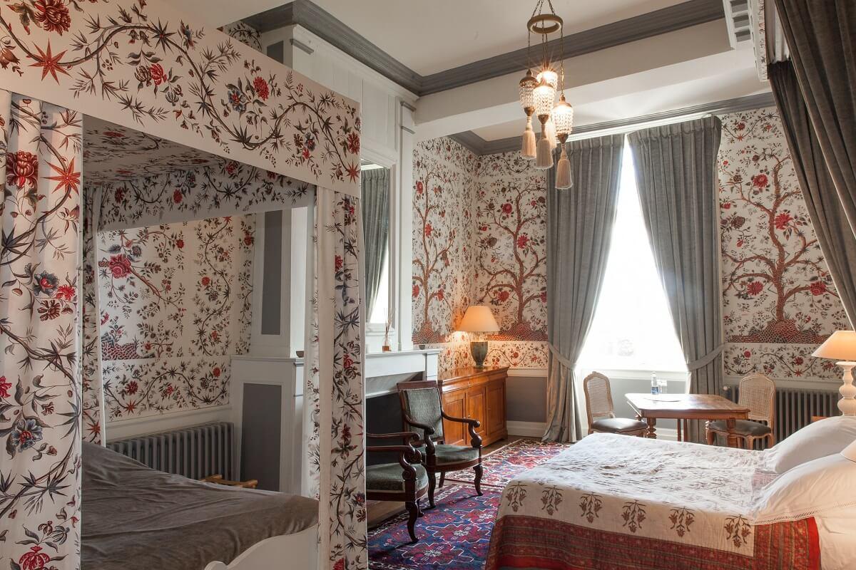 Chambre deux lits - Hôtel Château de la Ballue - Bazouges la Pérouse