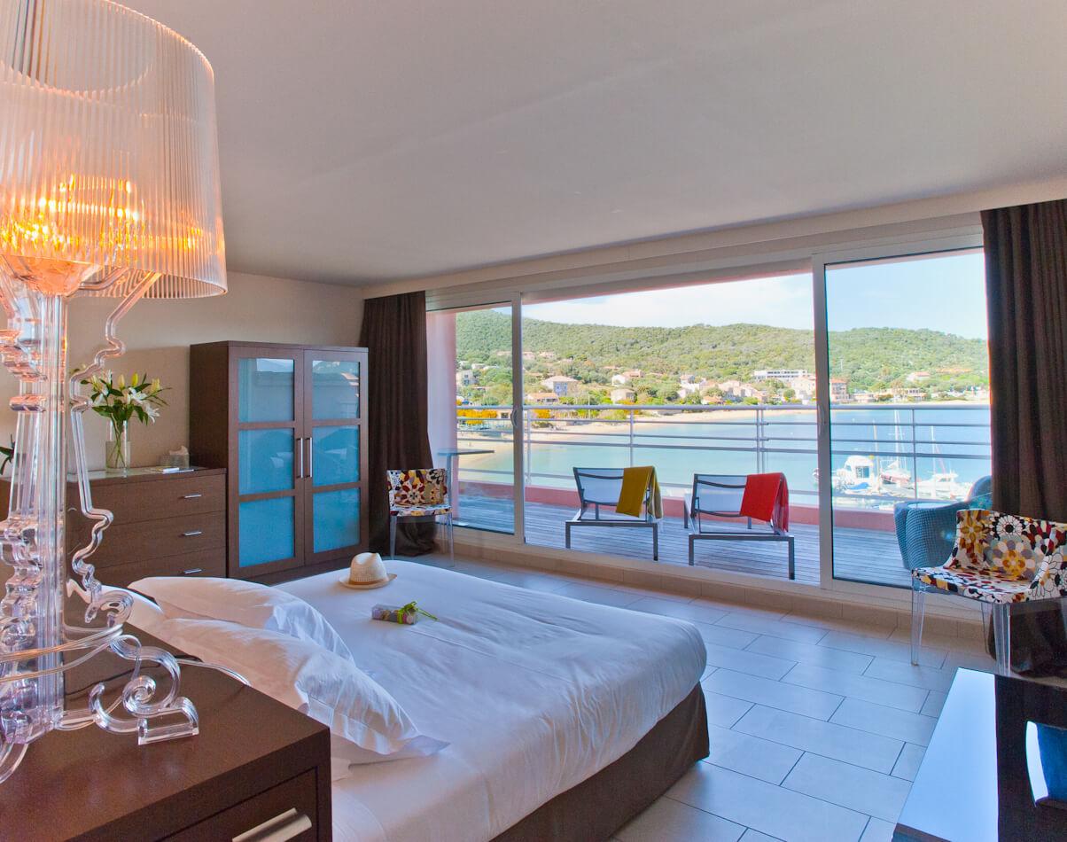 Chambre avec terrasse - Hôtel Le Golfe & Spa Casanera - Serra di Ferro - Corse du sud