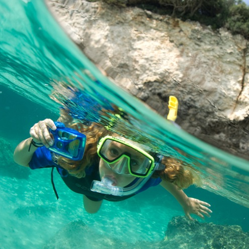 snorkeling à Bonifacio