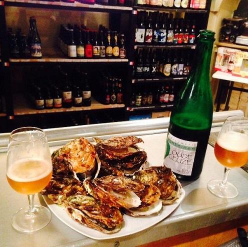 Bière et huîtres à Couleurs de bière