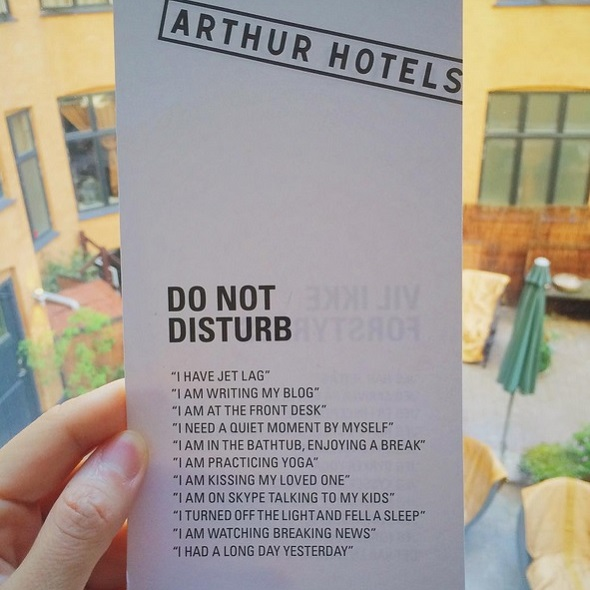 Accroche-porte à l'Arthur Hotels à Copenhague