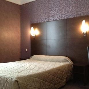 Chambre double à l'hôtel Le Boileau