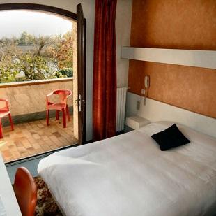 Chambre double à l'hôtel le Deauville