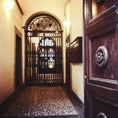Vue de l'entrée du Burchianti à Florence