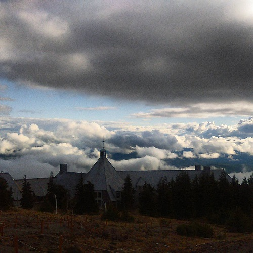 Vue sur le Timberline Lodge