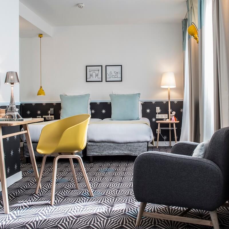Chambre twin - Hôtel Augustin Astotel - Paris