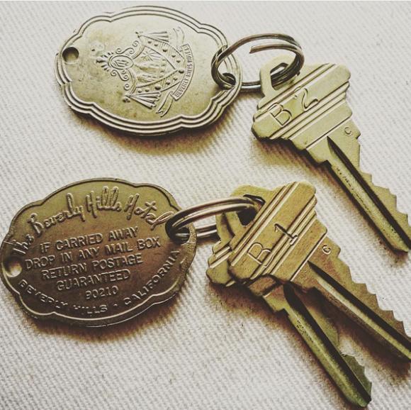Deux clés d'hôtel