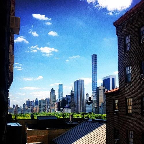 Vue sur Central Park New York dpeuis une auberge de jeunesse