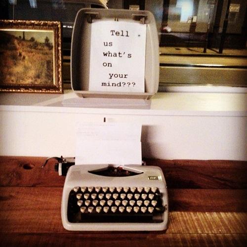 Machine à écrire au Wombats Hostel à Londres