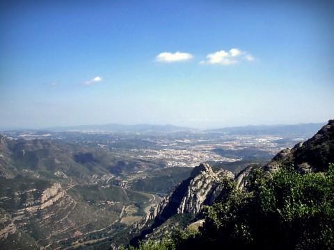 Weitblick vom Kloster Montserrat