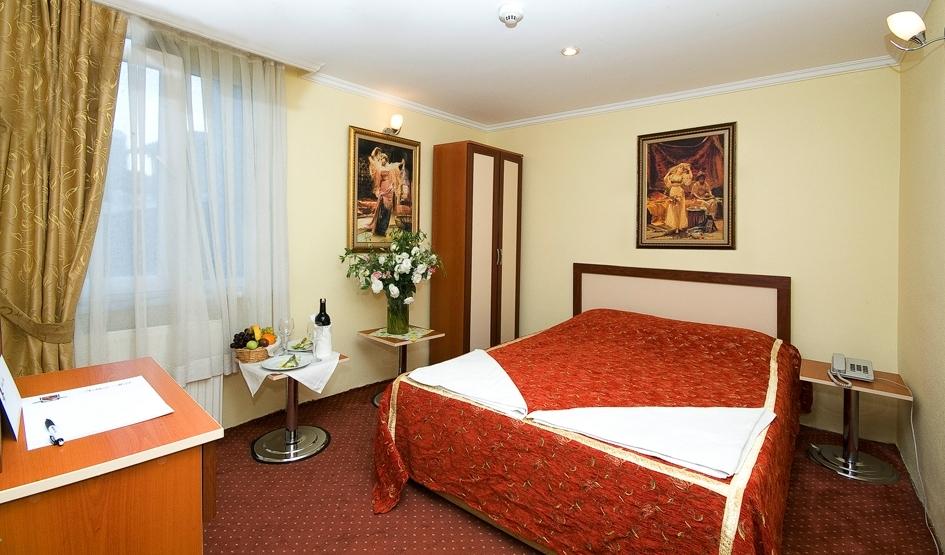 Ein Zimmer im Hotel Meddusa