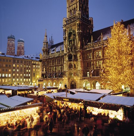 Christkindlmarkt am Münchner Rathaus, Foto: Tourismusamt München / C. Reiter