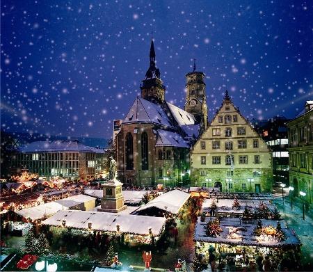 Blick auf den Stuttgarter Weihnachtsmarkt, Foto in.Stuttgart