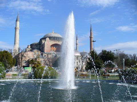 Springbrunnen vor der Hagia Sophia