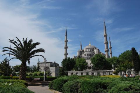 Blick auf die Hagia Sophia