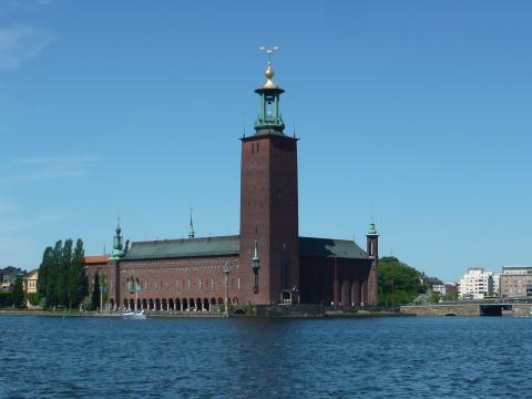 "Das Rathaus ""stadshus"" von Stockholm"