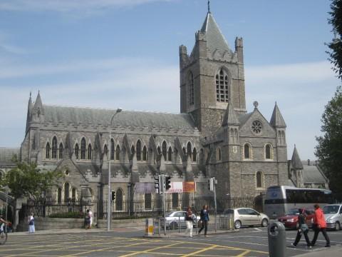 Ansicht der romanisch-gotischen Christchurch Cathedral