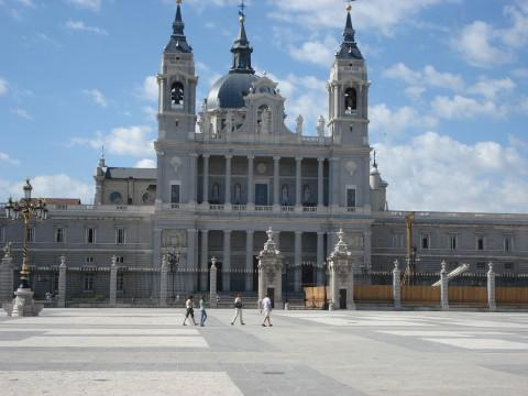 "Blick auf den ""Palacio Real"