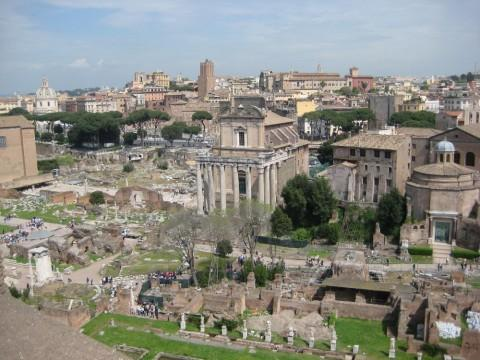 Blick auf das Formum Romanum