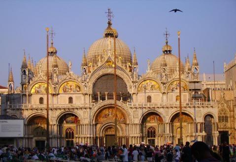 Der Markusdom in Italien Metropole Venedig