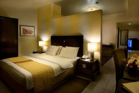 Blick in eines der Zimmer des Hotels.