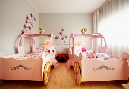 Das Kinderhotelzimmer für kleine Prinzessinnen.