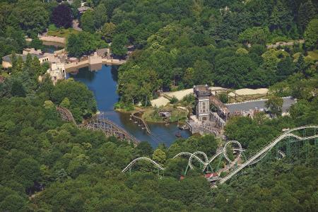 Der Freizeitpark Efteling ist umgeben von viel Grün