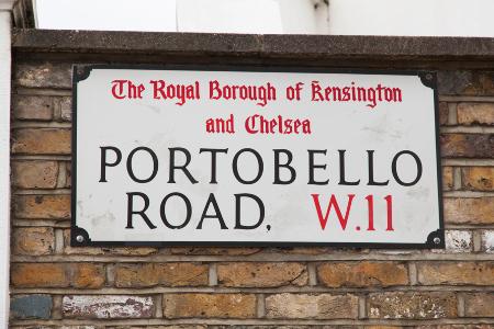 In Nottinghill findet der Portobello Markt statt.