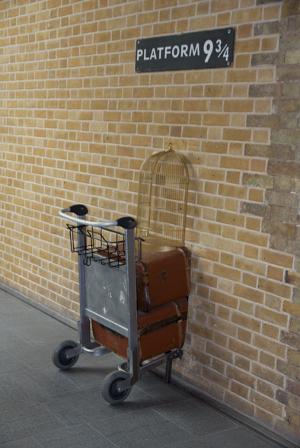 Das Gleis 9 3/4 am King's Cross Bahnhof.