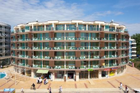 Außenansicht des Sea Breeze Hotels, Sonnenstrand