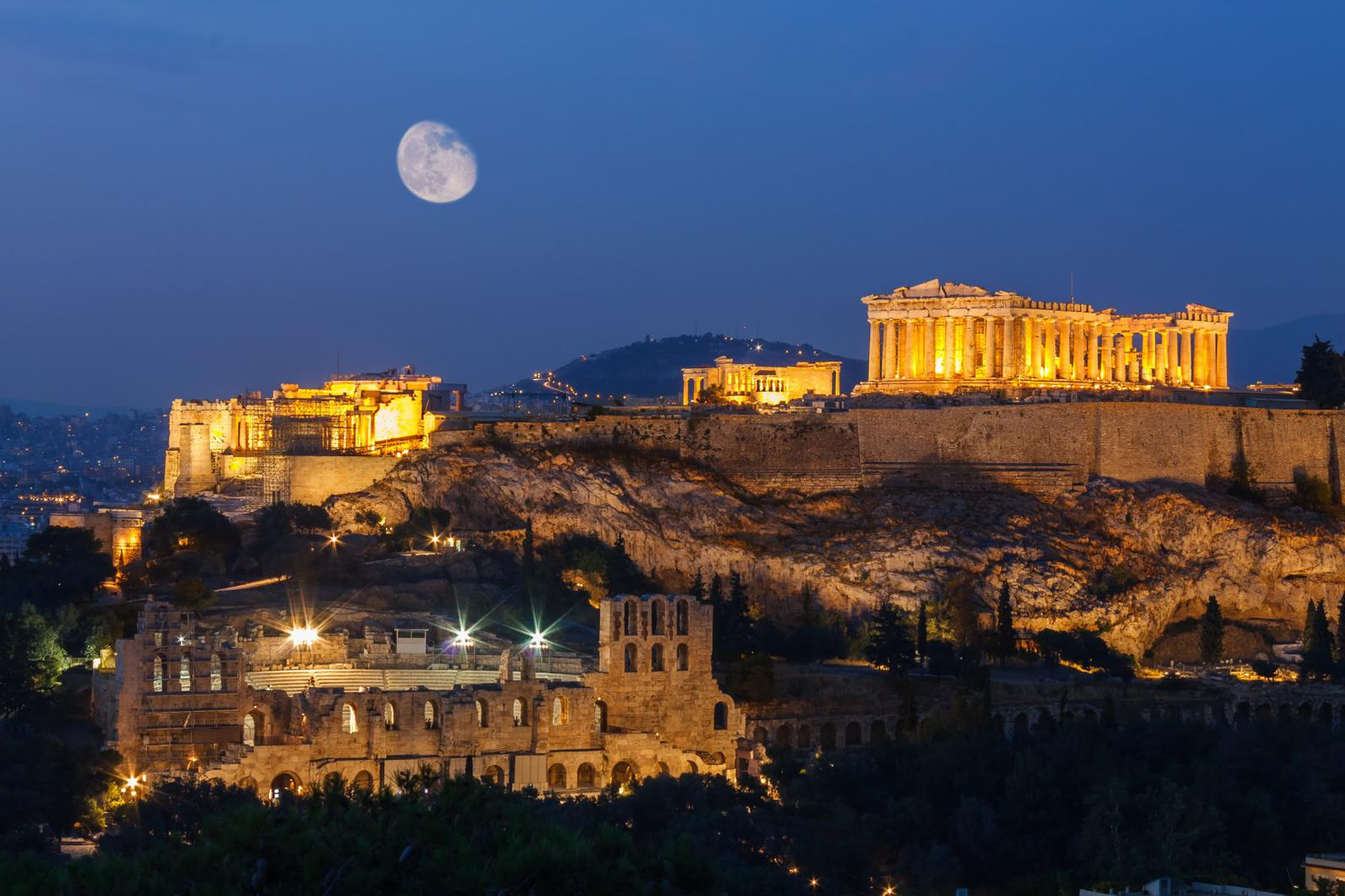 Die heiligen Felsen der Akropolis