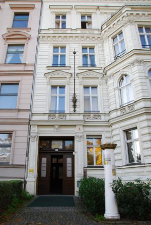 Blick auf das Grand Hostel in Berlin.