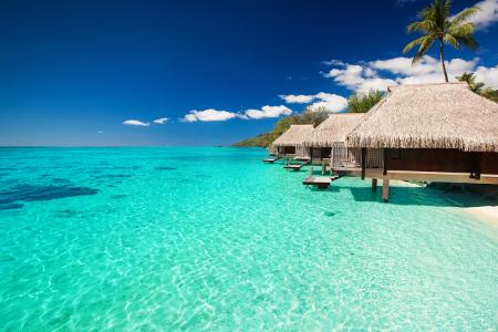 Platz 1 von den teuersten Reiseziele belegt Bora Bora mit 577€.