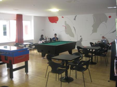Die Lobby des United-Hostels.