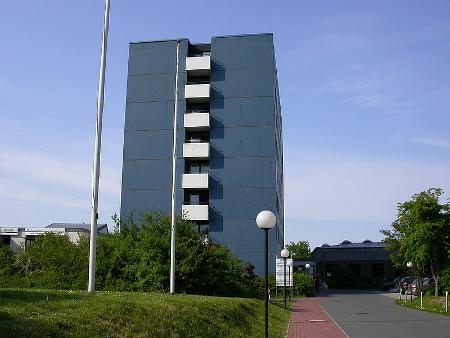 Blick auf das Hostel Bekpek.