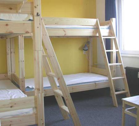 Ein Schlafsaal des Hostels.