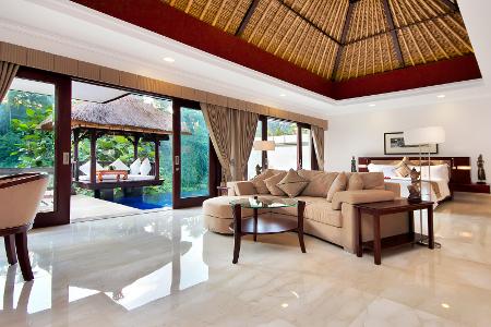 Blick in eine der Suiten des Hotel Viceroy Bali