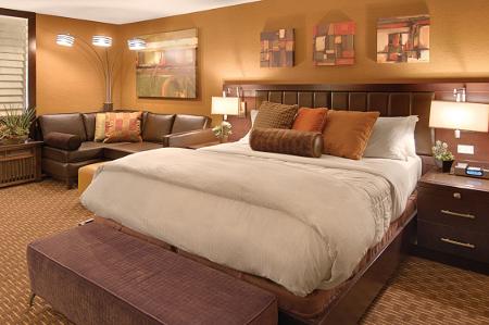 Auf den Hotelzimmern herrscht Gemütlichkeit pur
