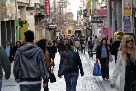 Ermou Street in Athen