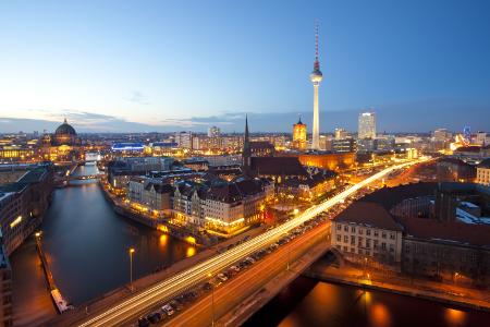 Berlin bei Nacht.