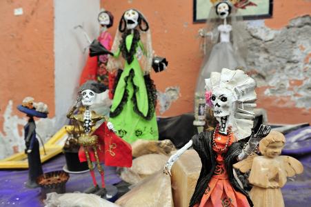 Dekoration zum Tag der Toten in Mexiko.