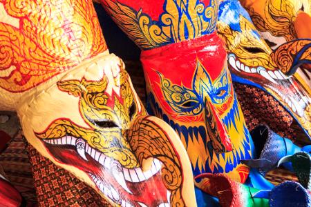 Masken an Halloween in Bangkok.