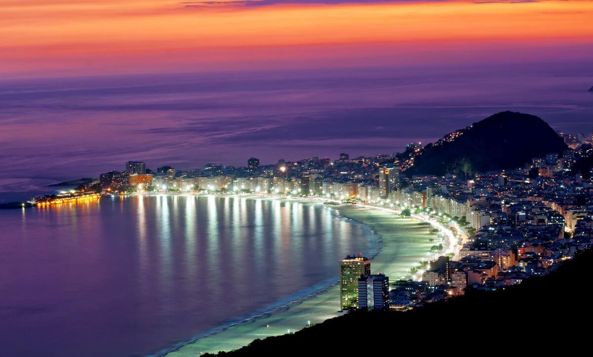 Copacabana Strand Rio de Janeiro Brasilien