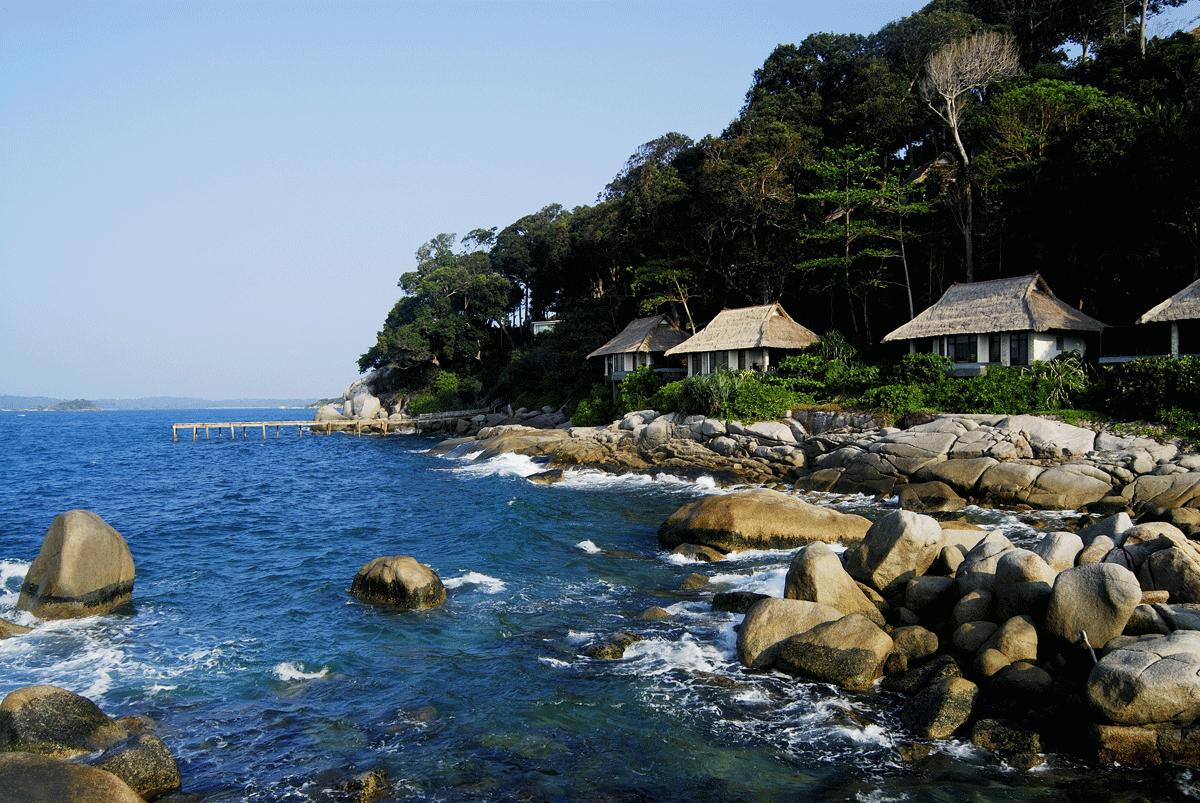 Banyan Tree Bintan Hotel & Resort mit Blick auf das Meer