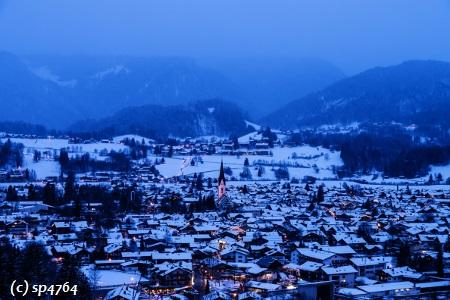 Oberstdorf in Deutschland.