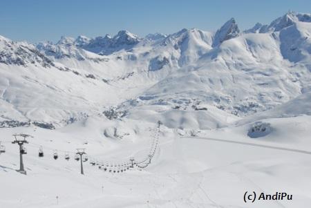 St.Anton am Arlberg in Österreich.